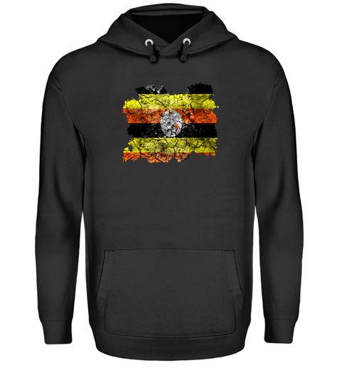 Uganda Vintage Flagge