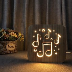 Source Fs T1886w Fancy Lion S Head Design Colorful 3d Lights Decorative Table La Night Light Led Night Light Music Note Gifts