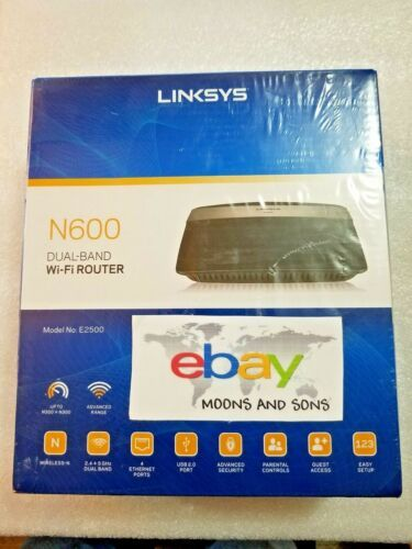 Details about Linksys N600 E2500 E2500-NP Wi-Fi Dual Band