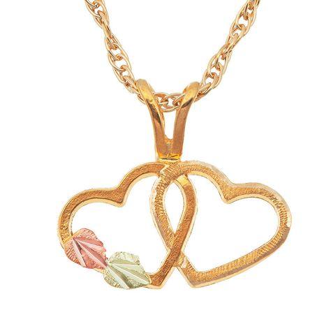 Landstroms Black Hills Gold 10k Gold Pendant Necklace Black Hills Gold Jewelry Heart Pendant Gold Black Hills Gold