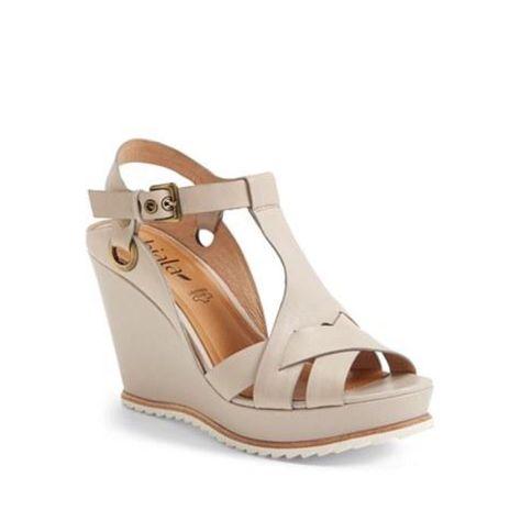 Biala Shoes | Biala Ashlyn-Lea Platform Wedge Sandals - Size 8.5 | Color: Cream/Gray | Size: 8.5