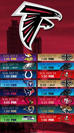 Atlanta Falcons 2019 Football Schedule Atlanta Falcons 2019 Mobile City NFL Schedule Wallpaper | 2019 NFL