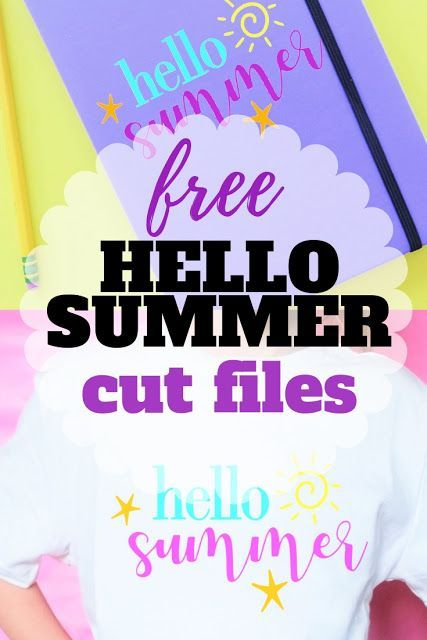 Say hello to summer with this free hello summer svg cut file
