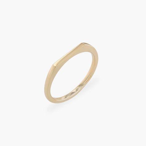 Line Ring | 14k Solid Gold