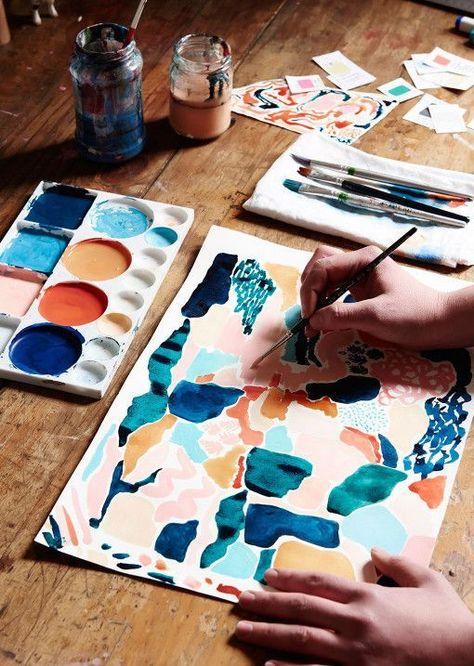 Leah Bartholomew Leah Bartholomew — The Design Files Design Blog, The Design Files, Design Art, Textile Design, Graphic Design, Painting Inspiration, Art Inspo, Art Journal Inspiration, Color Inspiration