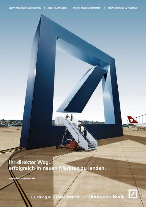 Deutsche Bank By Katrin Fillinger Via Behance Banks Advertising Banks Ads Bank Design