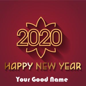 Happy New Year Image With Name Card Edit Online Name Print Tag On