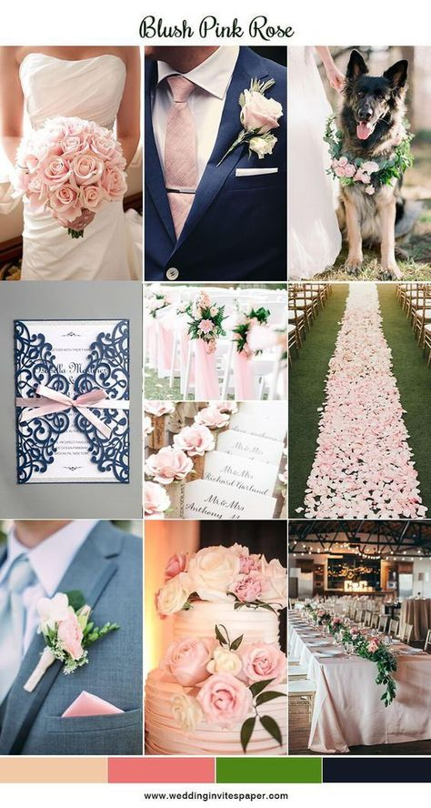 Navy blue and blush pink wedding color palette, spring outdoor wedding ideas, elegant laser cur wedding with pink ribbon. Spring Wedding Ideas for your Wedding at The Orchard at Chesfield