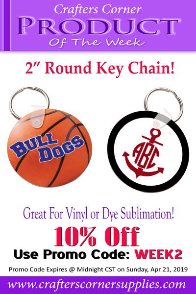Create One Of A Kind Key Chains With These Round Blanks Apply Vinyl Or Sublimate On Them With Favorite Images Monograms And Oracal Vinyl Crafters Keychain
