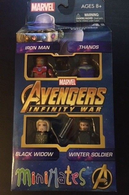 Marvel Minimates Avengers Infinity War Movie Box Set Winter Soldier