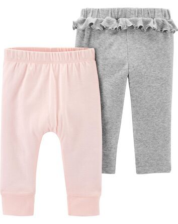 New Carter/'s Baby And Toddler Girls 2-Pack Leggings Pants Choose Size