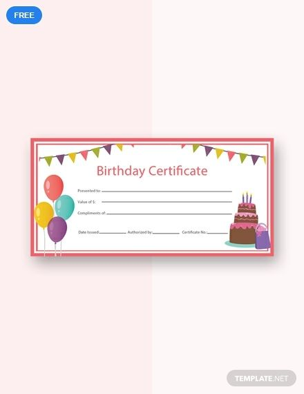 Birthday Gift Certificate Template Free Pdf Word Psd Apple Pages Google Docs Illustrator Publisher Free Gift Certificate Template Gift Card Template Printable Gift Certificate
