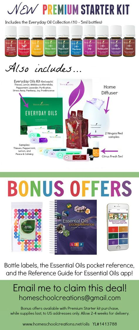Young Living Premium Starter Kit with Bonus Offers!