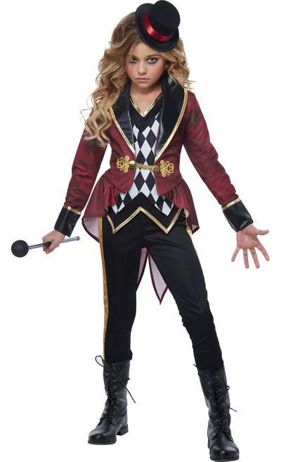 Kid Girls Ringmaster Circus Cosplay Dress Party Halloween Costume Fancy Dress Up