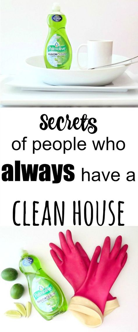 Want to know the secrets of people who always have a clean house? Take a look here to get those secrets!