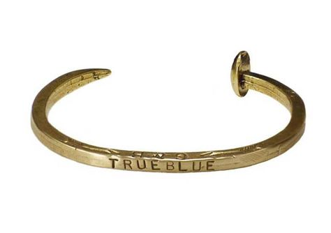 THE RUGGED ONE - Giles & Brother hand-stamped railroad tie bracelet. 212 872 8901