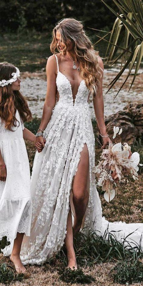 18 Rustic Lace Wedding Dresses For Different Tastes Of Brides Cute Wedding Dress, Best Wedding Dresses, Wedding Bride, Bridal Dresses, Wedding Dress Sleeves, Dresses With Sleeves, Wedding Rings, Lace Bride, Rustic Wedding Dresses