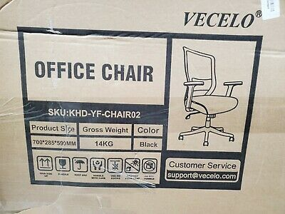 New Vecelo Home Office Chair For Task Desk Work Khd Yf Chair02 Color Black In 2020 Home Office Chairs Office Chair Office Computer Desk