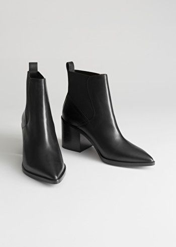 Chunky Chelsea Leather Boots | Leather