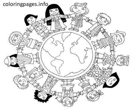 World Thinking Day 02 World Map Coloring Page Coloring Pages Free Coloring Pages