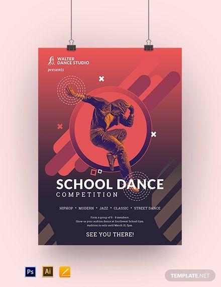 School Dance Poster Template Free Jpg Illustrator Apple Pages Psd Template Net Dance Poster Dance Poster Design Dance Event Poster