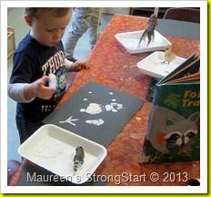 Photo of tiere im winter kindergarten