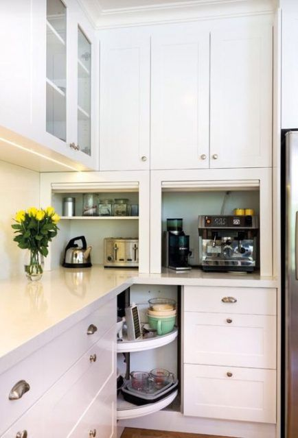 49 Ideas Kitchen Storage Ideas For Small Spaces Clutter Built Ins New Kitchen Cabinets Corner Kitchen Cabinet Kitchen Design Small