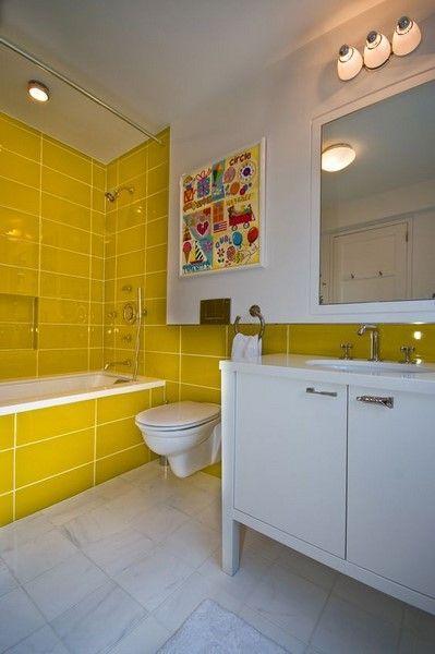 45 Small Yellow Bathroom Decorating Ideas Yellow Bathroom Decor Yellow Bathrooms Yellow Bathroom Tiles