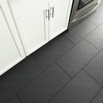American Olean Carbon Mist Slate 12 In X 24 In Glazed Porcelain Stone Look Floor And Wall Tile Lowes Com In 2020 Slate Tile Floor Slate Bathroom Floor Flooring