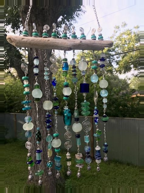 recycled glass bead sun catcher