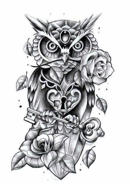 Trendy Drawing Cute Owl Tattoos Ideas Cute Owl Tattoo Owl Tattoo Design Owl Tattoo Sleeve