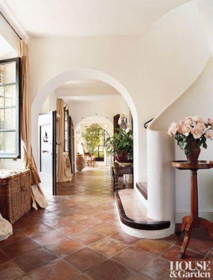 22 Ideas Spanish Tile Stairs Santa Barbara Spanish Style Homes Mediterranean Homes House Design