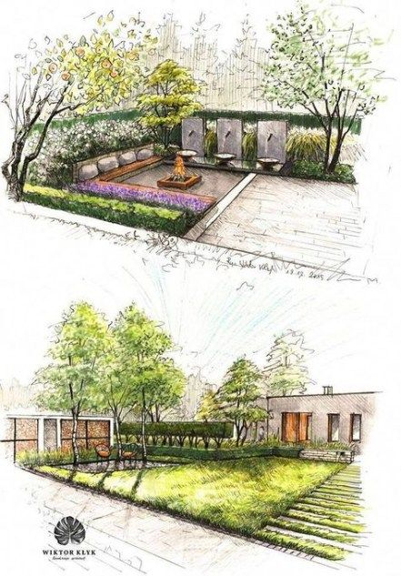 32 Ideas Landscaping Architecture Sketch Garden Design For 2019