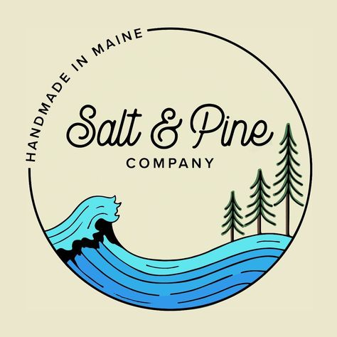 A design that truly embodies what Salt  Pine means! . Just one of the few designs I'll be droppin' on the site in sticker + swag options - stay tuned! . Thank you to @onceuponaprintshop for bringing my vision to life after a multitude of requests!😂 . The biz is finally starting to feel REAL!