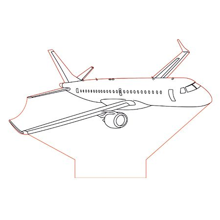 Embraer 190 3d Illusion Lamp Plan Vector File For Laser And Cnc 3bee Studio 3d Illusion Lamp 3d Illusions Illusions