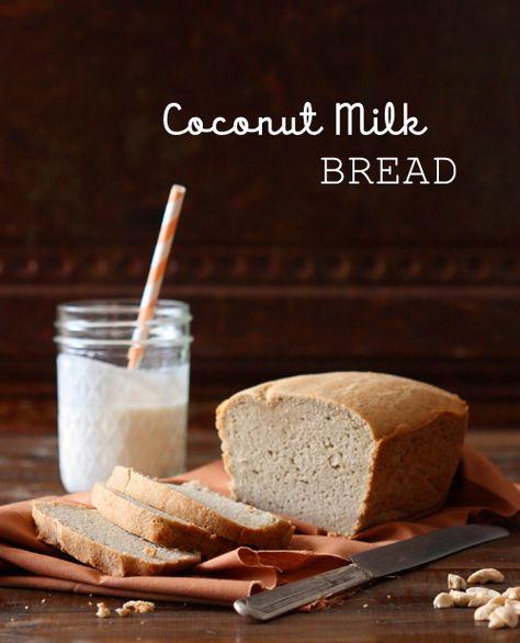 Coconut Milk Bread - coconut milk, eggs, coconut oil, ACV, honey, almond flour, coconut flour, psyllium husk powder, sea salt, baking soda