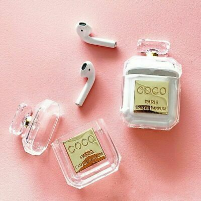 Luxury Cute Coco Crystal Perfume Apple Airpods Protective Transparent Case Cover Ebay Airpod Case Perfume Bottles Earphone Case