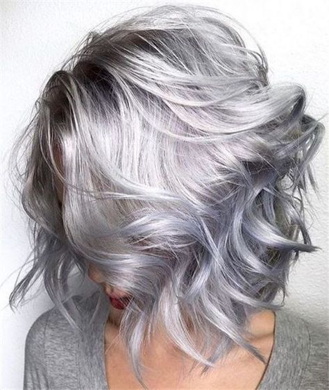 These 25 Silver And Platinum Looks Will Have You On Cloud Nine Grey Hair Color Hair Styles Long Hair Styles