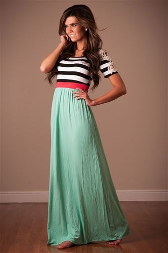 Mint coral Summer Maxi Dress, chevron maxi, cute modest clothes, modest skirts, modest clothing, modest dress, modest dresses, dresses for church, trendy modest clothing,summer dresses, affordable boutique clothes