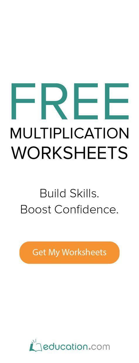 Free Multiplication Worksheets For Pre K Thru 5th Grade Students From Free Kindergarten Worksheets Kindergarten Worksheets Preschool Worksheets Free Printables