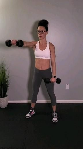 Tone your bat wings and strengthen your arms with this upper body workout. This effective dumbbell arm workout consists of the best compound arm exercises. Suitable to perform at home or at the gym. #armsworkout #upperbodyworkouts #homeworkout #fittiff After The Rain by Roa Music