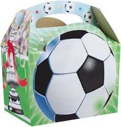 Boys Girls Football Soccer Picnic Food Loot Lunch Party Treat Box Boxes
