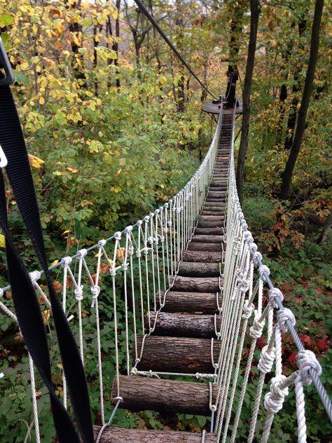 Seven Springs Mountain Resort, Canopy Tour Zip Line.  October 2013