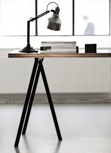 Hay Loop Stand Tafel.Hay Loop Stand Tafel Zwart Pure Wood Design Interieur