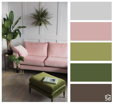 Color Balance Green And Pink Color Interior Ideas Color Palette