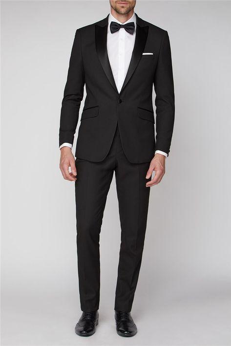 Black Tie Suit, Black Tie Dress Code, Tuxedo Suit, Black Tuxedo, Tuxedo For Men, Black Suit Groom, Black Prom Suits, Groom Tuxedo, Men's Tuxedo Wedding