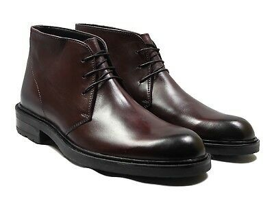 Lucini Mens Real Leather Lace Up Shoes Smart Casual Ankle Boots