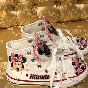 Minnie Mouse Inspired Blinge Converse Birthday Shoes Decorated ...