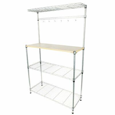 Wfx Utility Hume Stainless Steel Baker S Rack Microwave Stand