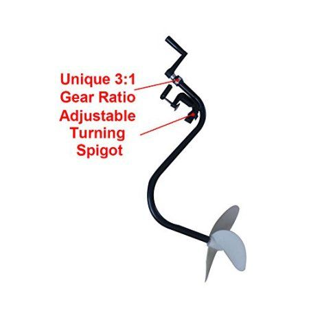 HAND OPERATED PROPELLER INFLATABLE DINGHY OUTBOARD MOTOR NEW TROLLING MOTOR